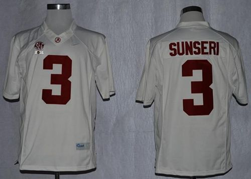 Football Patch Playoff 2016 Sunseri Ncaa Championship Crimson National College Limited Jersey Tide Stitched Vinnie White 3