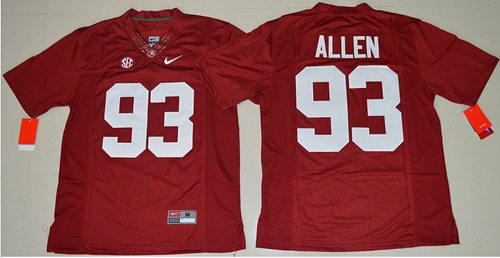 size 40 90ef5 4aecf Crimson Tide #93 Jonathan Allen Red Limited Stitched NCAA Jersey