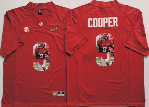 outlet store 43eb7 90193 Crimson Tide #9 Amari Cooper Red Player Fashion Stitched NCAA Jersey